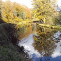 La piste vélo-route macadanisée du canal des Vosges à La Vôge-les-Bains
