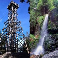 La tour de Merelle avec sa cascade